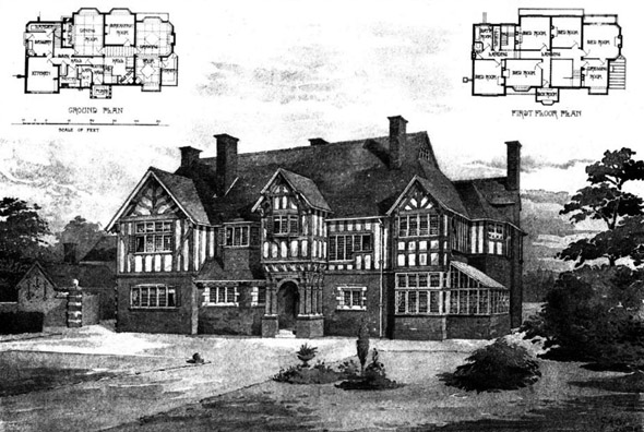 1899 &#8211; House at Walsall, Staffordshire