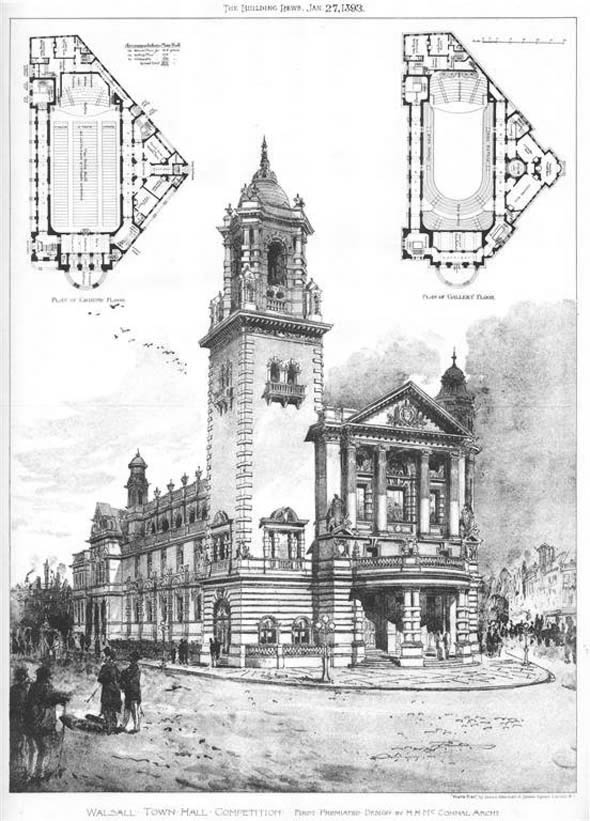 1893 &#8211; Walsall Town Hall, Staffordshire