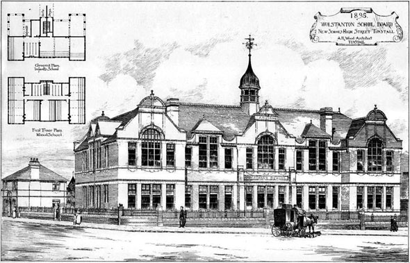 1895 &#8211; New School, Tunstall, Staffordshire