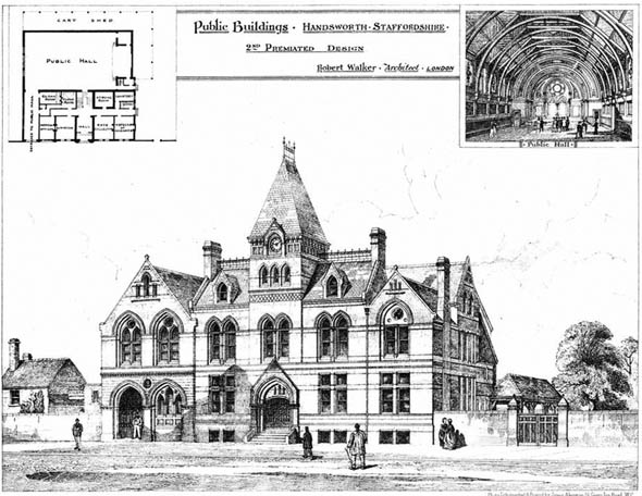 1877 &#8211; Public Buildings, Handsworth, Staffordshire