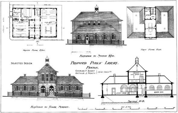 1903 &#8211; Proposed Public Library, Fenton, Staffordshire