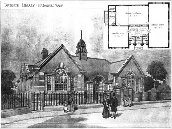 1905 &#8211; Tamworth Library, Staffordshire