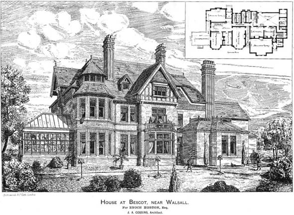 1886 &#8211; House at Bescot, Walsall, Staffordshire