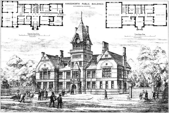 1879 &#8211; Handsworth Public Buildings, Staffordshire