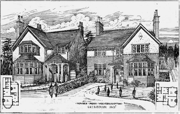 1906 – Houses, Penn, Wolverhampton, Staffordshire
