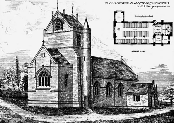 1880 &#8211; Church of St. George, Glascote, Tamworth, Staffordshire