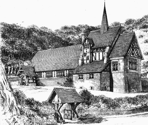 1881 – St. Chad's Church, Hopwas, Staffordshire