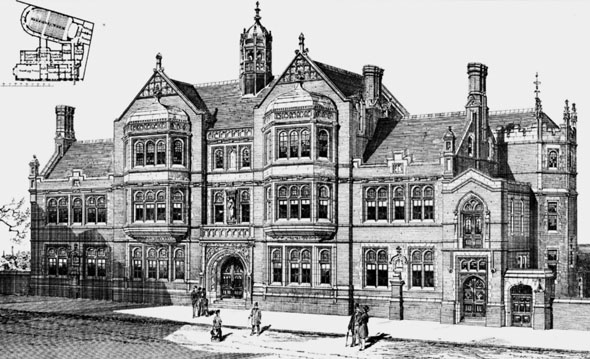 1884 &#8211; Institute Buildings, West Bromwich, Staffordshire