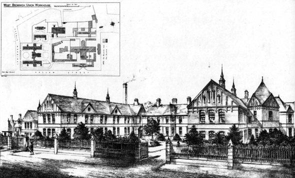 1885 – West Bromwich Union Workhouse, Staffordshire