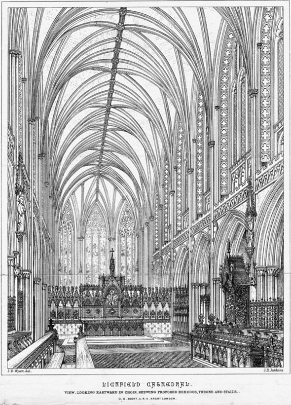 1860 &#8211; Restoration of Lichfield Cathedral, Staffordshire