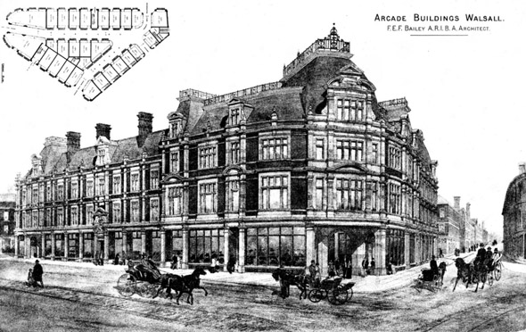 1885 – Arcade Buildings, Walsall, Staffordshire