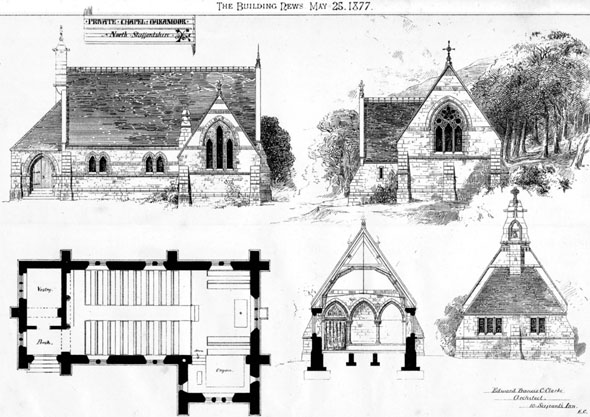 1877 &#8211; Private Chapel, Oakamoor, Staffordshire