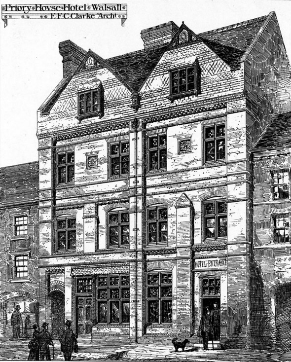 1875 – Priory House Hotel, Walsall, Staffordshire