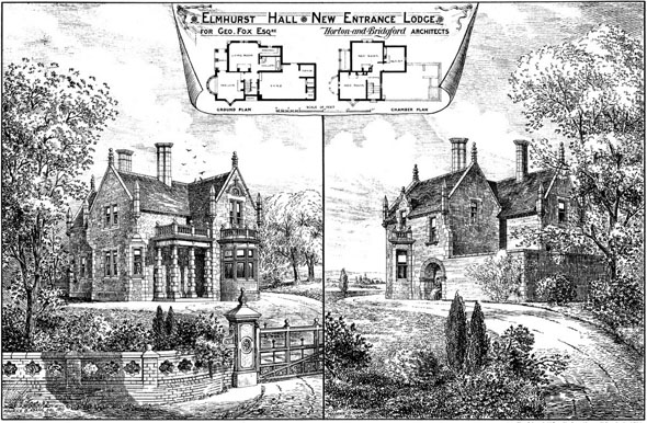 1877 &#8211; Entrance Lodge, Elmhurst Hall, Staffordshire