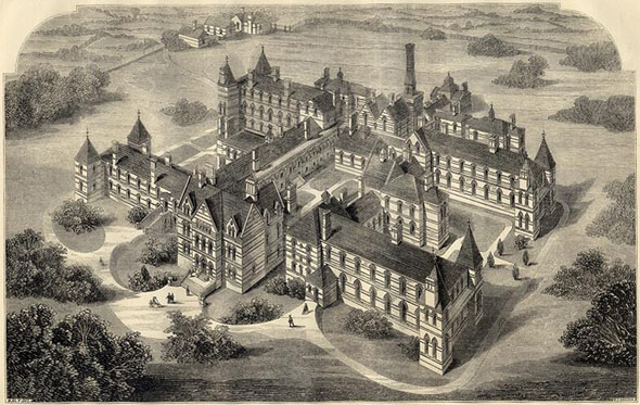 1866 &#8211; New Infirmary, Hartshill, Stoke-Upon-Trent, Staffordshire
