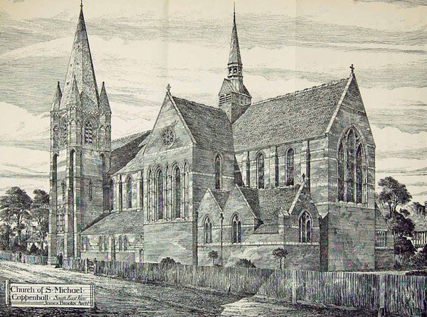 1884 – St. Michael's Church, Coppenhall, Staffordshire