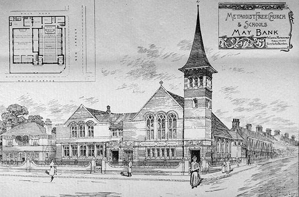 1898 – Methodist Free Church & Schools, Maybank, Wolstanton, Staffordshire