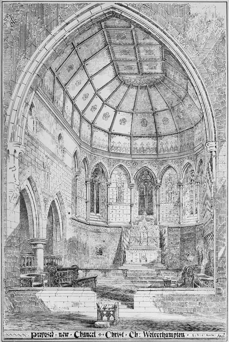 1873 – Proposed new Chancel, Christ Church, Wolverhampton, Staffordshire