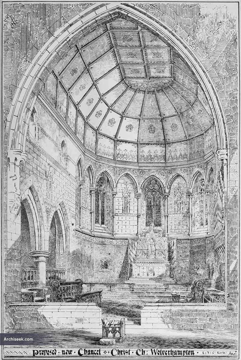 1873 – Proposed new Chancel, Christ Church, Wolverhampton, Staffordshire