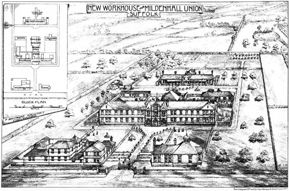 1896 &#8211; New Workhouse, Mildenhall Union, Suffolk