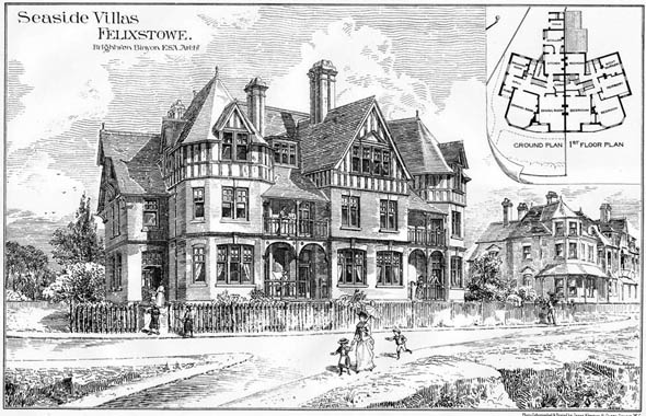 1888 – Seaside Villas, Felixstowe, Suffolk