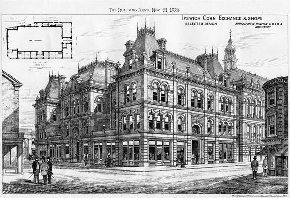 1882 &#8211; Ipswich Corn Exchange &#038; Shops, Suffolk