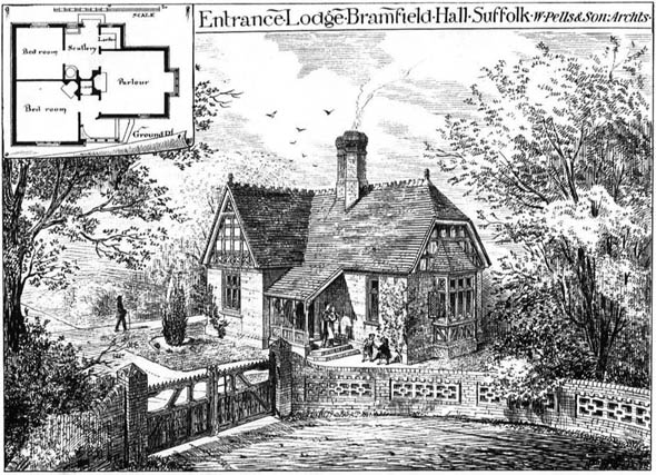 1878 &#8211; Entrance Lodge, Bramfield Hall, Suffolk