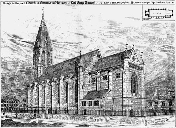 1876 &#8211; Proposed Church at Newmarket, Suffolk