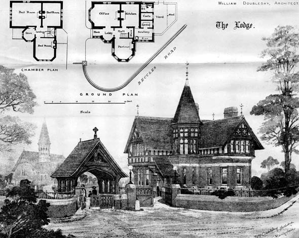 1885 &#8211; Lowestoft Cemetery Buildings, Suffolk