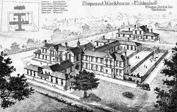1886 – Proposed Workhouse, Mildenhall, Suffolk
