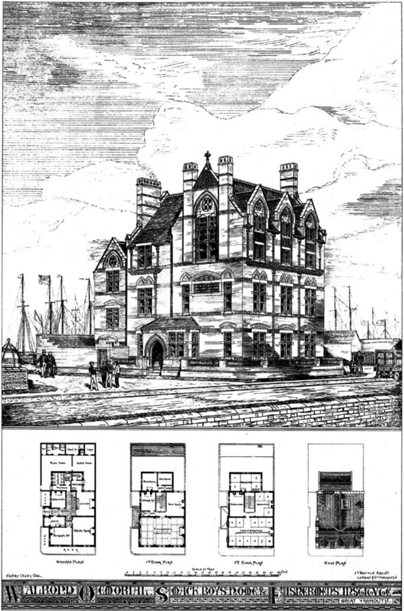 1875 – Walrond Memorial Smack Boys Home & Fishermans Institute , Great Yarmouth, Suffolk