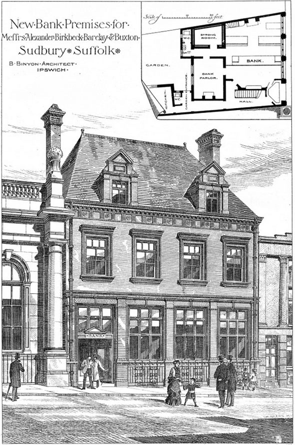 1879 &#8211; Bank Premises, Sudbury, Suffolk