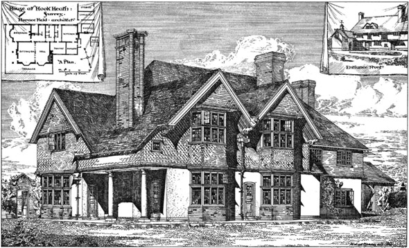 1883 &#8211; House at Hook Heath, Surrey