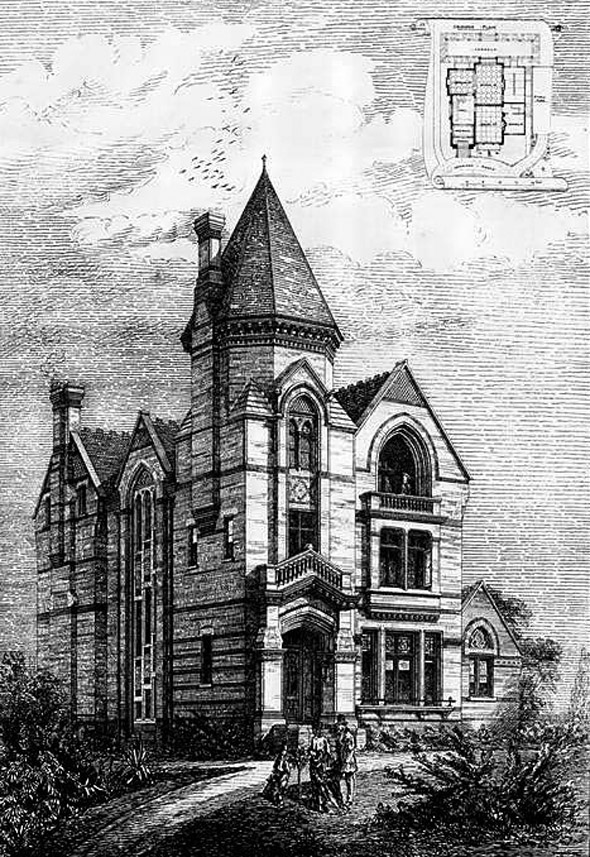 1875 &#8211; House, Putney Hill, Surrey
