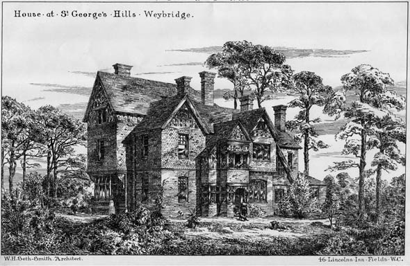 1885 &#8211; House at St. George&#8217;s Hills, Weybridge, Surrey