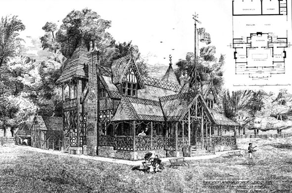 1880 – Cricket & Archery Pavilion, Beddington Park, Surrey