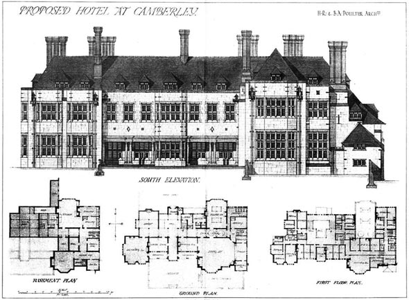 1908 &#8211; Proposed Hotel at Camberley, Surrey