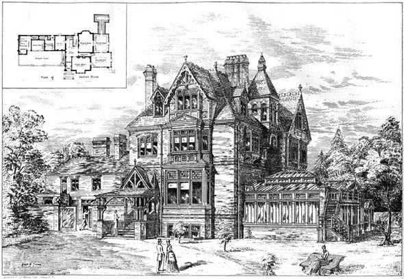 1884 – Villa at Coombe Warren, Surrey