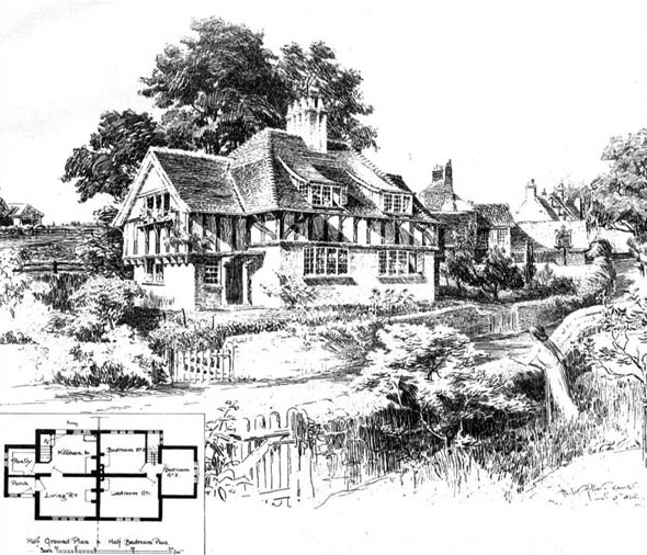 1905 &#8211; Cottages, Compton, Surrey