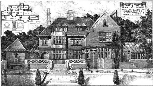 1905 &#8211; House at Coombe Hill, Surrey
