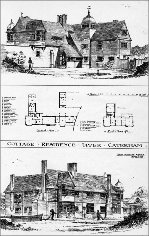 1884 &#8211; Cottage Residence, Upper Caterham, Surrey