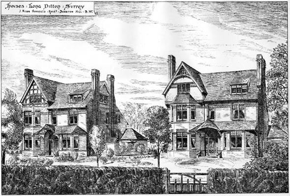 1884 &#8211; Houses, Long Ditton, Surrey