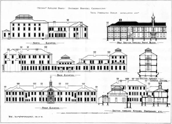 1898 – Unbuilt Design for Southern Hospital, Carshalton, Surrey