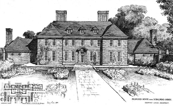 1910 &#8211; Proposed House at Godalming, Surrey