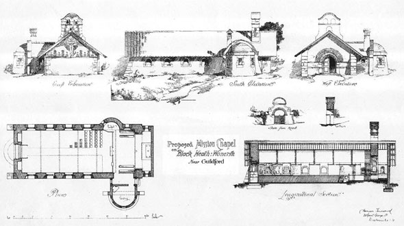 1892 – St Martin's Chapel, Blackheath, Wonersh, Surrey