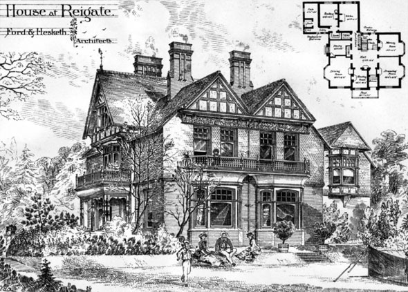 1883 &#8211; House at Reigate, Surrey