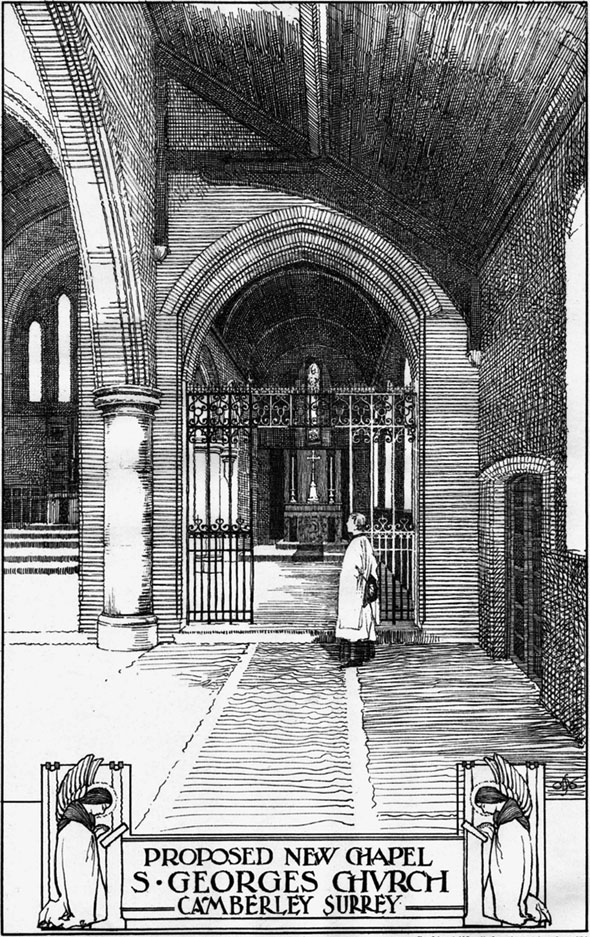 1906 &#8211; Proposed New Chapel, St. Georges Church, Camberley, Surrey