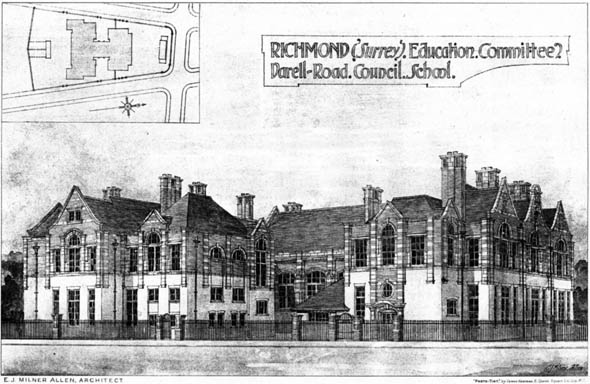 1906 &#8211; Darell Road Council School, Richmond, Surrey