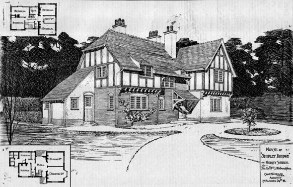 1906 &#8211; House at Shipley Bridge, Horley, Surrey