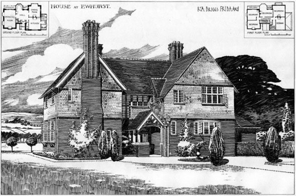 1906 &#8211; House at Ewhurst, Surrey